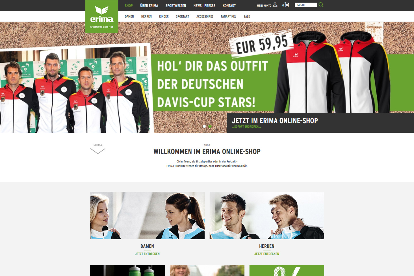 Erima - Online-Shop und Website Detail 02